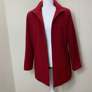 Calvin Klein Red Pea Coat size S